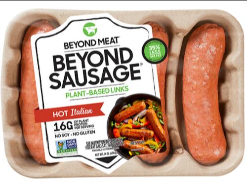 חדש!! רביעיית נקניקיות ביונד מיט Beyond meat – איטלקיות חריפות!  400 גרם